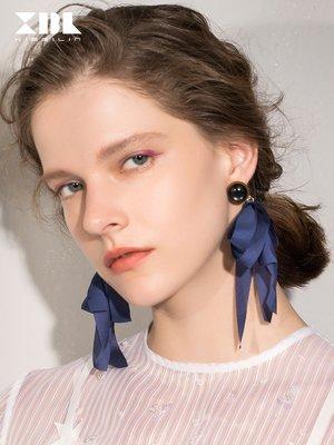 Lissom韓國代購~歐美大氣簡約飄帶耳環女日韓版夸張時尚個性潮人氣質流行耳配飾品