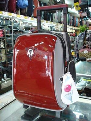 【玩皮豹】日系品牌UnMe新款亮面拉桿書包學生書包[超輕 双拉鍊多功能內層]3308A亮紅色