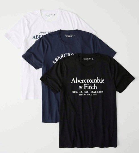 AF Abercrombie & Fitch 麋鹿 印花logo 短袖 T恤 三件裝  現貨