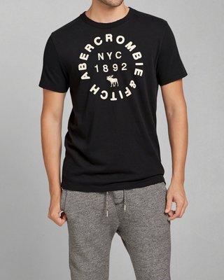 美國AMPM【現貨 #T27】AF / A&F  男版  麋鹿 刺繡貼布短T APPLIQUE LOGO GRAPHIC