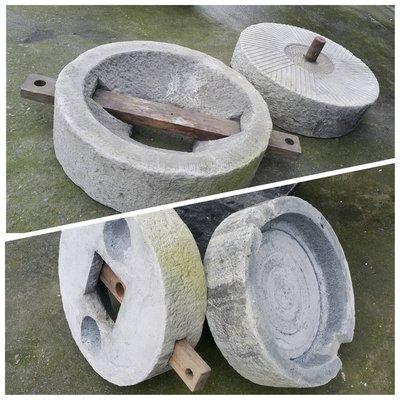 【路卡傢飾~園藝造景】古早土礱  石礱 石臼 石磨 流水組 居家 庭園景石  石盆 景觀設計