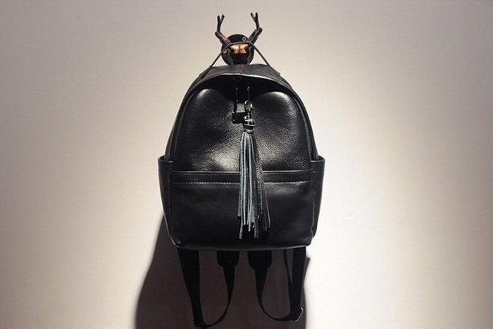 時尚真皮流蘇鉚釘雙肩包 旅行背包 後背包-「預購」Regina Shop【SG7101804】
