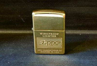 ONE*$1~美系*ZIPPO*立體重光『Double Lustre技術打火機』高波蘭黃銅*編號:28145