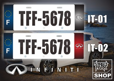 【STREET PARK】訂製 歐盟 車牌裝飾 Infiniti Q30 QX30通用款【原價780$ 特價 580$】
