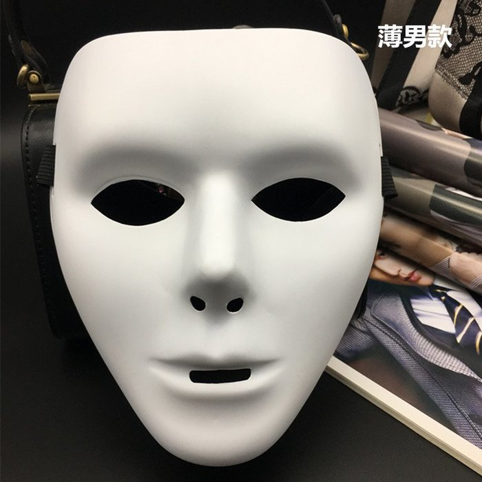 廠家 ~最低價JabbaWockeeZ假面舞客齊舞表演 抖音舞全臉面具 白色街舞面具男女