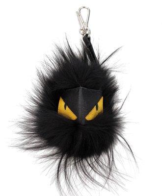 FENDI Bag Bugs Mostro  魔魔系列 皮草 服裝 吊飾 包包 皮帶 吊飾  黑 -- 我最便宜