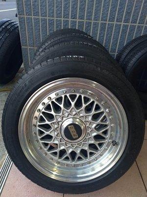 195 50 R 15 米其林 PS3 16年32週製造 二手 中古 輪胎加鋁圈7J ET35 4孔195100或114