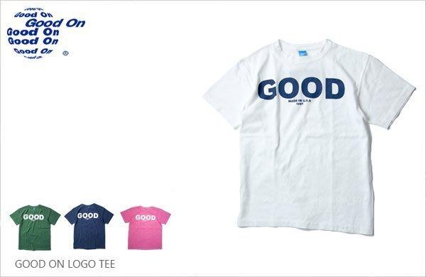 WaShiDa【541P】Good On 日本品牌 LOGO 後染 短袖 美國製 純棉 T恤