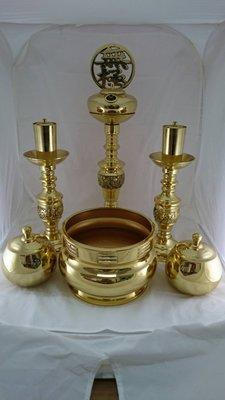 特小車馬佛燈-金 (母燈+兩儀) 一貫道 神明用 佛燈油 銅器 香爐 檀香罐