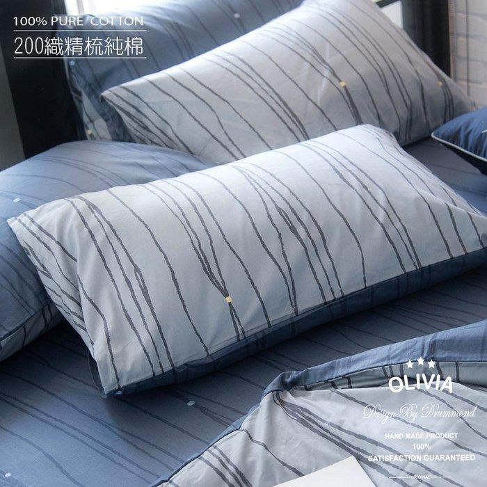【OLIVIA 】DR620 利歐路 標準雙人床包冬夏兩用被套四件組 都會簡約 100%200織精梳棉 台灣製