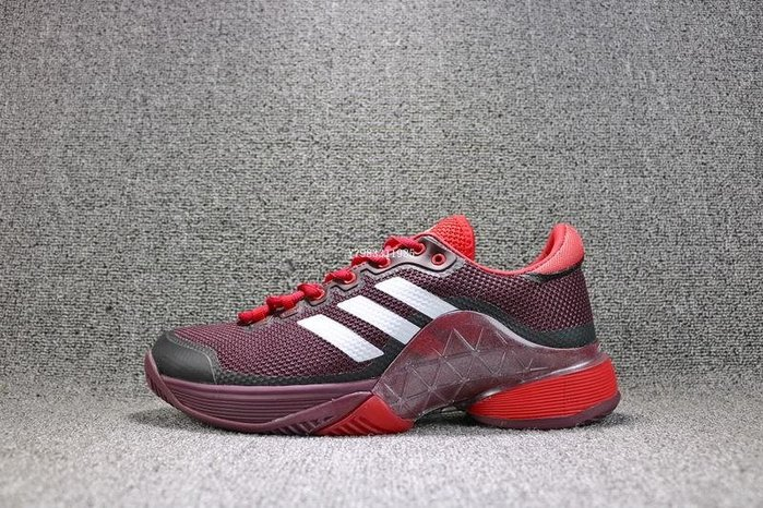 ADIDAS BARRICADE  BOOST 黑紅 經典 透氣 休閒運動慢跑鞋 男鞋 BY1624
