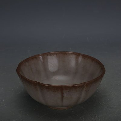 ㊣姥姥的寶藏㊣ 南宋官窯手工瓷冰裂米黃釉蓮花碗  出土文物古瓷器古玩古董收藏品