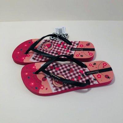 《現貨》Ipanema 女生夾腳拖鞋 巴西尺寸33/34,35(甜蜜野餐 人字夾腳平底拖鞋-紅色)