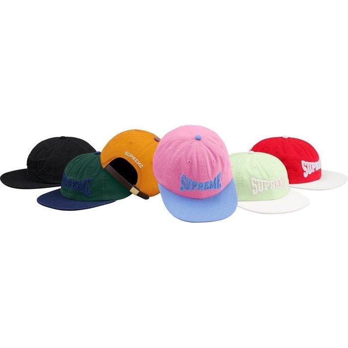 【美國鞋校】預購 SUPREME SS19 Chenille Logo 6-Panel 六分帽 露營帽