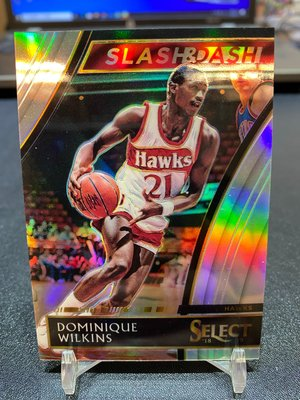 2018-19 Select Slash & Dash Silver Dominique Wilkins /99