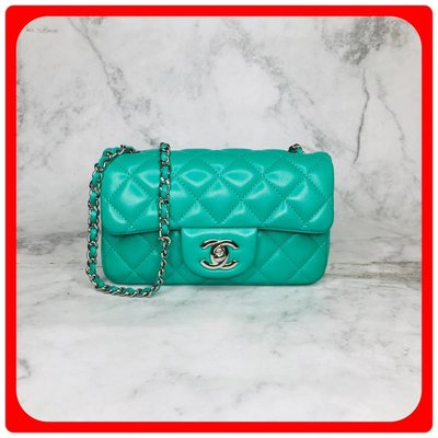 【 RECOVER 名品二手 sold out】CHANEL CF EXTRA MINI 銀釦 17CM