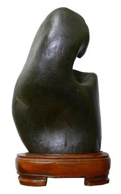【四行一藝術空間 】雅石美玉‧長江石 高50X寬28X厚15 CM / 含底座 售價 $15,000
