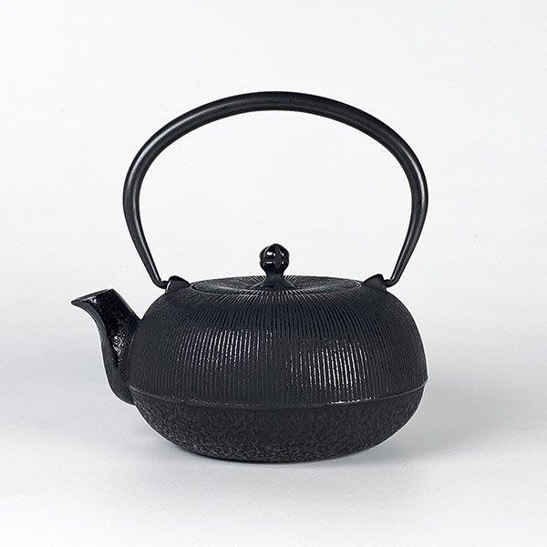 日本鑄鐵壺南部鐵器【寶星堂】千筋 急須 0.8L 附濾網 鑄鐵壺 茶壺 泡茶壺 茶具