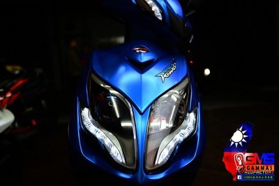 KYMCO RACING KING 雷霆王180 遠近魚眼HID大燈模組改裝 LED光圈 天使眼 燒鈦飾圈