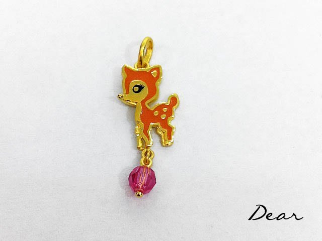 ◎【 Dear Jewelry 】◎純金9999琺瑯可愛小路斑比墬子 送禮物 送情人-----免運