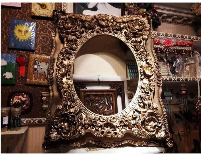 居家藝術-文藝復興 維多利亞 巴洛克 歐洲宮廷藝術-鏡框畫框相框像框-裱 鏡面 油畫 相片 婚紗照.用-古銅色