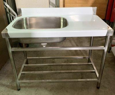 大高雄冠均二手貨中心---【全新】430#  水槽平台  工作台   水槽   料理台 流理臺 洗台 洗手台 高雄市