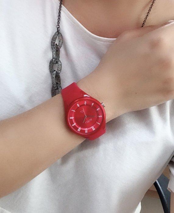 Lotus 亮色潮流 立體指針休閒錶(TP2117M-03)-艷紅/39mm
