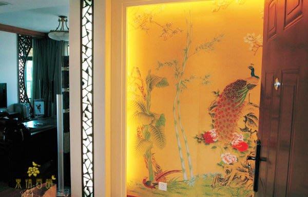 【芮洛蔓 La Romance】手繪絲綢壁紙 H16