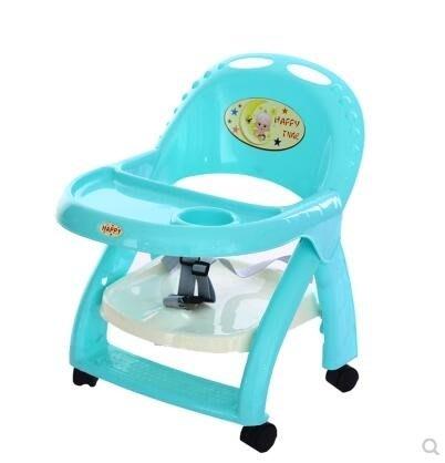 帶輪可移動寶寶餐椅便攜式兒童桌椅可折疊可升降嬰兒桌子BB凳餐桌igo