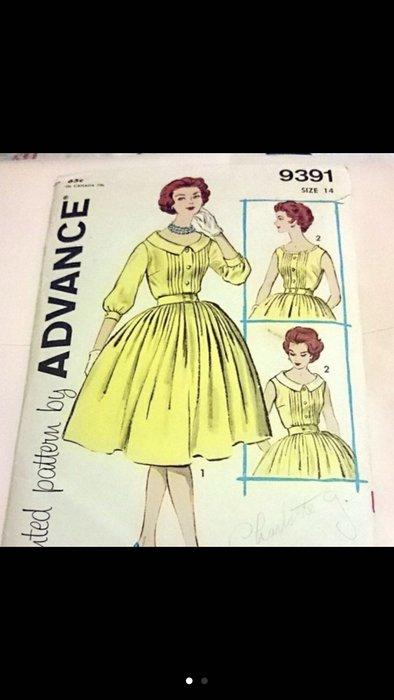 1960 年1961年 古董成衣版型 紙版