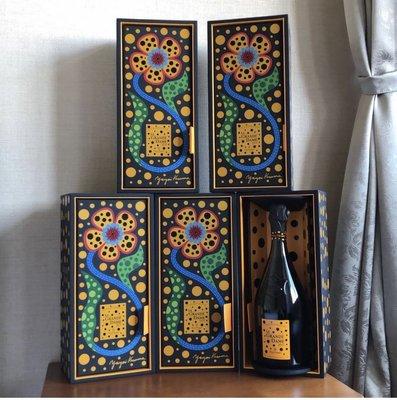 草堅彌生*凱歌香檳 日本限量1000隻 只有1隻yayoi kusama