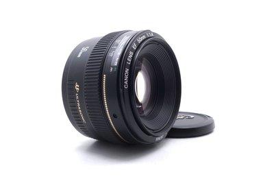 【台中青蘋果】Canon EF 50mm f1.4 USM 二手 定焦鏡 單眼鏡頭 #59258