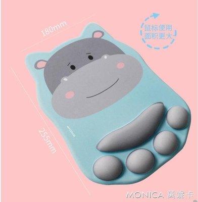 滑鼠墊 EXCO護腕電腦滑鼠墊可愛女生萌寵貓爪滑鼠墊女帶護腕辦公手腕墊