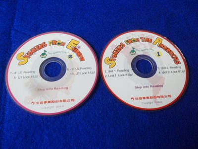 【彩虹小館】W22兒童CD~STORTES FROM AMERICAS1+EUROPE2~佳音英語(共2片3吋光碟)