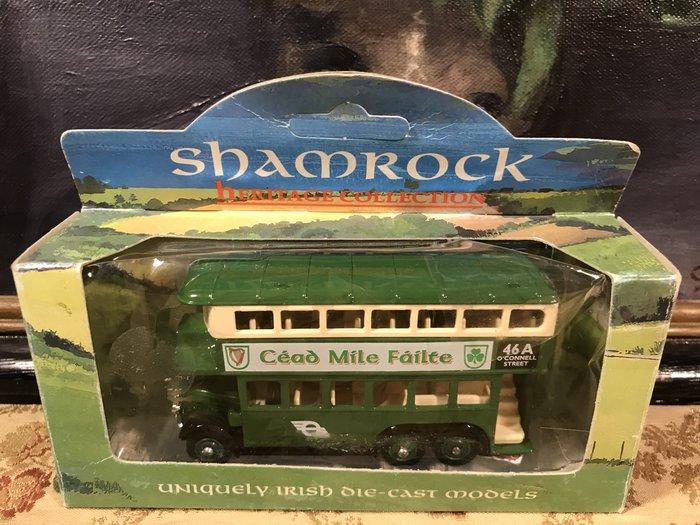 歐洲古物時尚雜貨 英國 手工 DAYS GONE 綠色 雙層巴士1931擺飾品 古董收藏