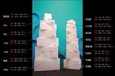 【元美】20KG 保麗龍 盒 箱(保溫 保冰 防撞 防潮 收納 )