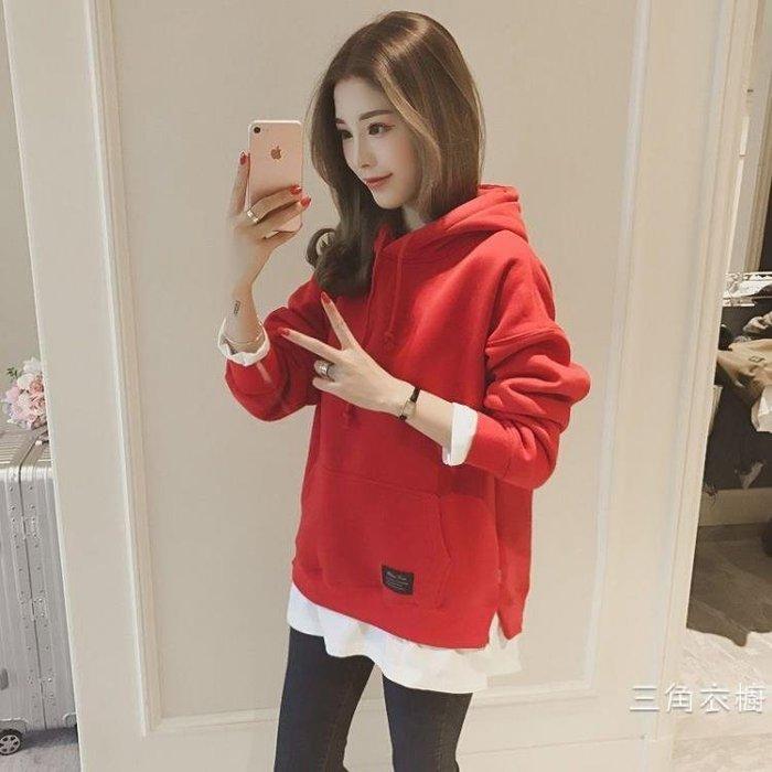 孕婦秋裝衛衣時尚款2018新款上衣長袖洋裝子中長款韓版寬鬆長袖外套