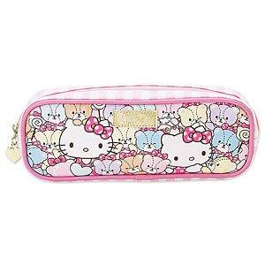 *凱西小舖*日本進口三麗歐正版KITTY&TINY CHUM彩虹熊收納/筆袋