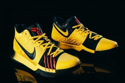 Nike Kyrie-3 MM EP AJ1692-700 Mamba Mentality李小龍厄文曼巴黑黃蛇鱗血紅傷痕