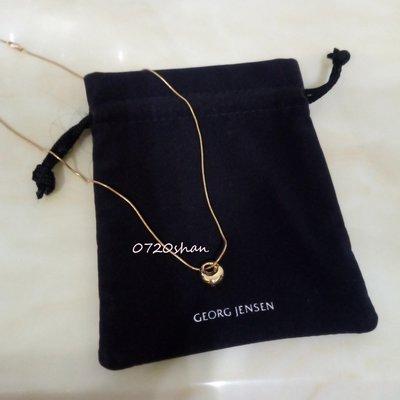 喬治傑生 GEORG JENSEN 750黃K金 月神項鍊 附絨布袋