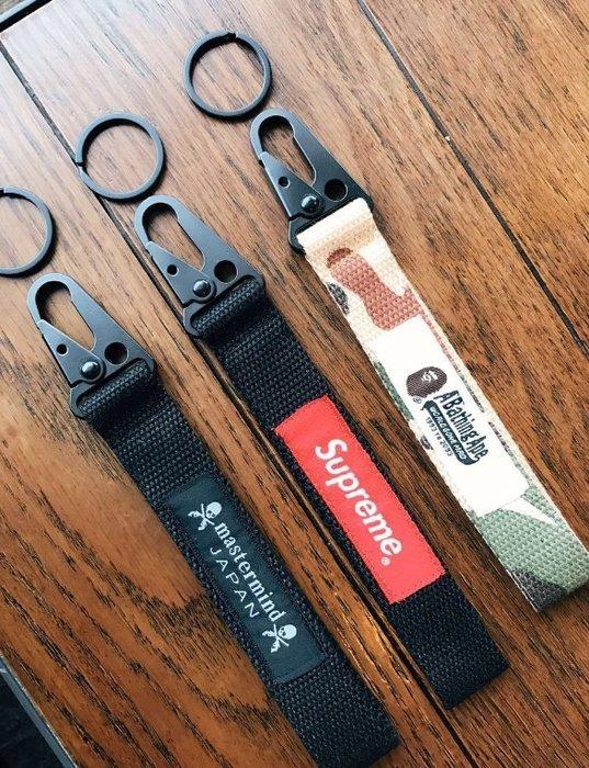 潮牌工裝褲純手工鑰匙扣車鑰匙扣織帶鑰匙扣