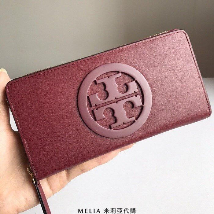 Melia 米莉亞代購 2018年 Tory Burch 托里伯奇 新款 女士長夾 錢包 皮夾 nappa真皮 紅色