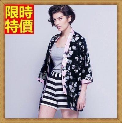 防曬衣 和服 和風外套-精美花卉日式優雅罩衫小外套68af38[獨家進口][米蘭精品]
