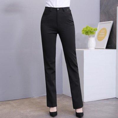 ZIHOPE 西裝褲 女西褲 職業西裝褲面試工作正裝褲 直筒 修身口袋長褲子 黑色ZI812