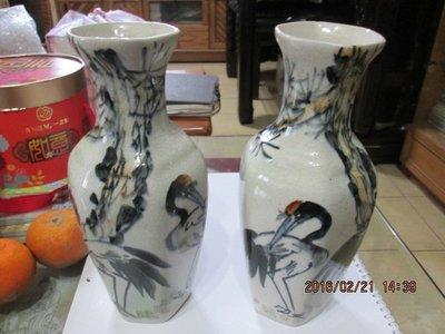 早期 中華藝術陶瓷厚胎花瓶