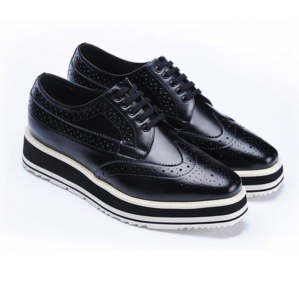 =WHITY=韓國GRAMMI品牌 韓國製  設計師新款英國女孩厚底鞋真皮時尚百搭推薦好穿 S7BN294