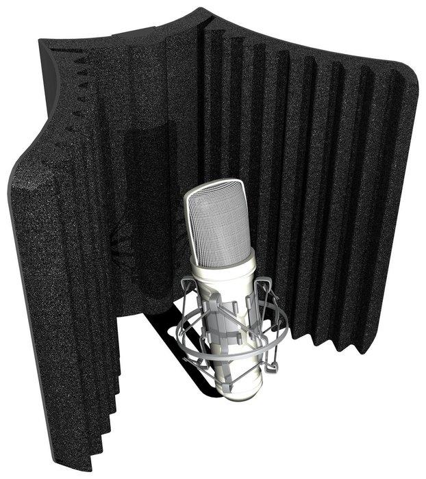 【六絃樂器】全新美國 Auralex MudGuard V2 麥克風遮罩 防串音 防反射 / 工作站錄音室