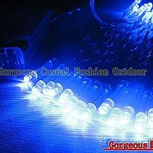 居家庭院造景燈 3米30燈 使用三顆AA電池LED串燈/聖誕燈/夜景裝飾/節日喜慶彩燈 (藍色)