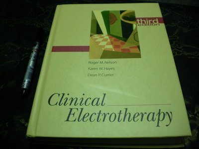 【阿天雜貨店】-【Clinical Electrotherapy 3e 】ISBN083851491X  k2區