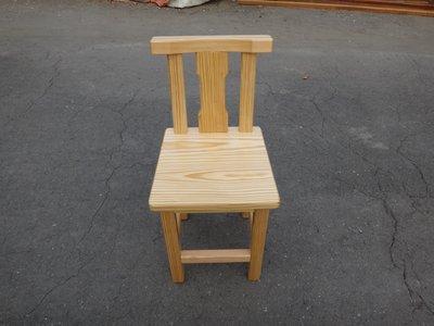 C012 {崙頂傳統原木家具行}~鐵杉木餐椅有靠背加板 歡迎 訂做 訂色